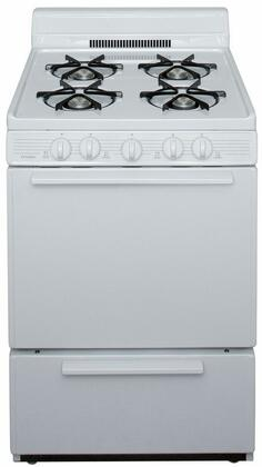 "Premier 24"" Freestanding Gas Range White BCK100OP"