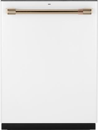 GE Cafe  CDT836P4MW2 24 Matte White And Bronze Built-In Dishwasher
