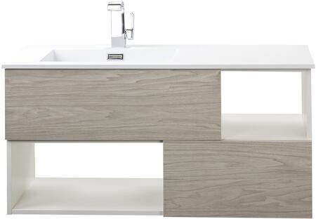Sangallo Collection FVWEEKND42 42 inch  Wall Mount Vanity with 2 Drawers  2 Open Shelves and Matt Top in Weekend Getaway