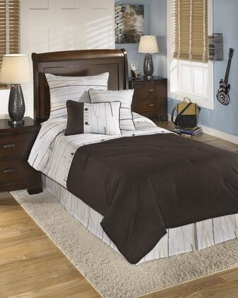 Stickly Q305001T 5-Piece Twin Size Top of Bed Set includes 1 Comforter  1 Bed Skirt  1 Standard Sham and 2 Accent Pillows with Stripe Design and Cotton