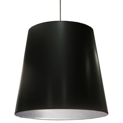 OD-XL-697 1 Light Oversized Drum Pendant With Black On Silver Shade