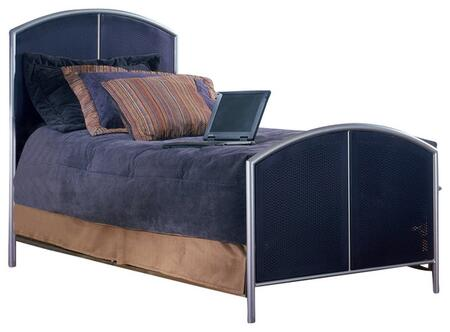 1177BFR Brayden Full Size Bed with Polished Metal Legs  Room for Underbed Storage and Heavy Gauge Steel Construction in Silver and