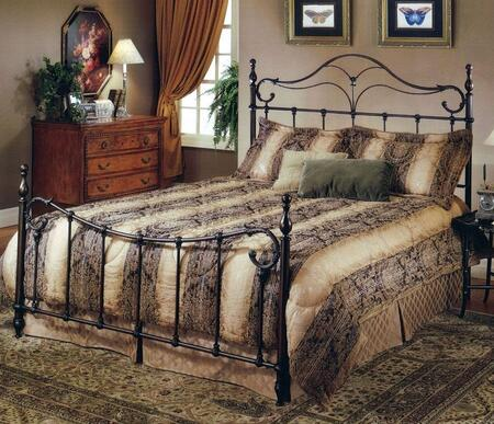 Bennett 1249BFR Full Sized Bed with Headboard  Footboard and Frame  Elongated Finials and Cast Metal Construction in Antique Bronze