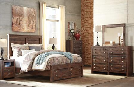 Hammerstead Queen Bedroom Set With Storage Bed  Dresser  Mirror  Nightstand And Chest In