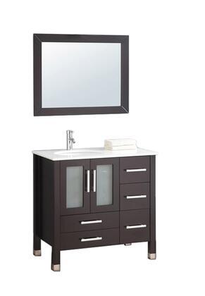 -2012E Sweden 36 Single Sink Bathroom Vanity Set (Left Side)
