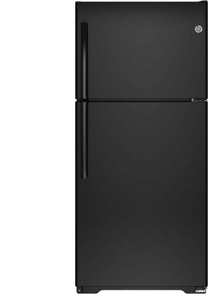 GIE18ETHBB 30 Top Freezer Refrigerator with 18.2 cu. ft. Capacity  Upfront Dual Temperature Controls  Adjustable Glass and Wire Shelves
