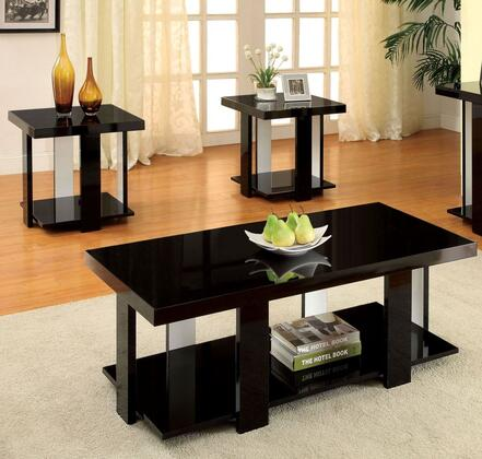 Lakoti I Collection CM4240BK-3PK 3-Piece Living Room Table Set with Coffee Table and 2 End Tables in