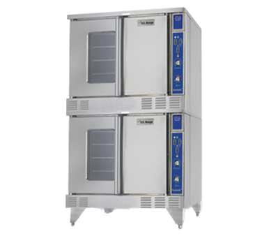 SUMG-200 38 inch  Summit Series Double Deck Full-Size Convection Oven  Solid State Controller  Two Speed Fan Control with 3/4 HP Fan Motor  Direct Spark Ignition