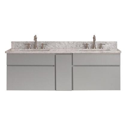 TRIBECA-VS60-CG-C Avanity Tribeca 60 in. Wall Mounted Vanity Combo in Chilled Gray