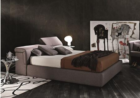 18087-QS600 Queen Size Giselle Storage Bed with Hydraulic Lift Component and Individualy Adjustable Headrests in Taupe Water Repellent