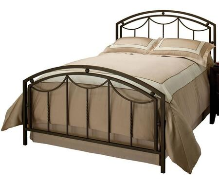 Arlington 1501BQR Queen Sized Bed with Headboard  Footboard and Frame  Standard Arched Silhouette and Tubular Steel Construction in Bronze