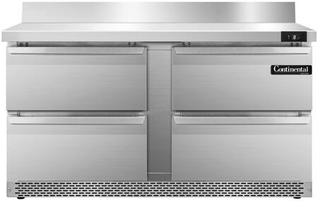 SWF60BSFBD 60 inch  Worktop Freezer with 4 Drawers  6 inch  Backsplash  17 Cu. Ft. Capacity  Front Breathing Compressor  Aluminum Interior  Interior Hanging Thermometer