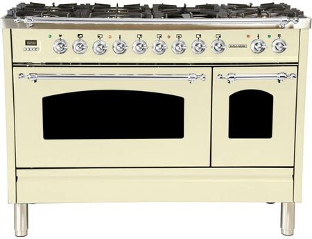 HGR4802DFAWLP 48 inch  Dual Fuel Liquid Propane Range with 7 Sealed Burners  5 cu. ft. Total Capacity True Convection Oven  Griddle  in Antique