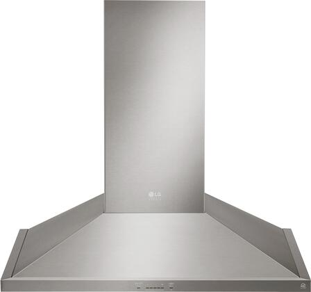 LSHD3689ST 36 inch  Wall Mount Chimney Hood with 600 CFM Blower  2 Dishwasher Safe Mesh Filters  IR Touch Controls  and Wi-Fi Capable  in Stainless