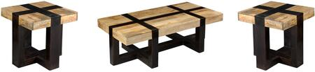 75313PCRC2SEKIT1 3-Piece Living Room Table Sets with Coffee Table  and 2x End Table in Tahoe Natural and Dark