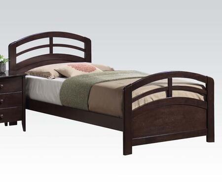 San Marino Collection 14980T Twin Size Bed with Medium-Density Fiberboard (MDF) and Solid Wood Construction in Dark Walnut