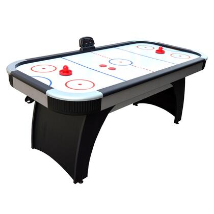 NG1029H Silverstreak 6' Air Hockey Table with LED Electronic Scoring Unit  High Gloss Playing Surface and Arched Pedestal