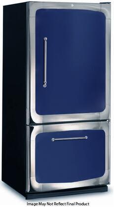 "3015-00R-CBL 30"" 18.5 cu. ft. Capacity Freestanding Bottom Freezer Refrigerator  Digital Temperature Control  Auto Defrost  Glass Shelves and Right Hinge Door"