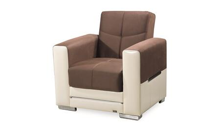 Monaco Collection MONACO ARM CHAIR BROWN/ CREAM 37