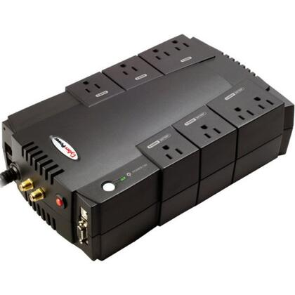 CP800AVR UPS - 800VA/450W AVR 8-Outlet RJ11/RJ45 Compact Design EMI/RFI