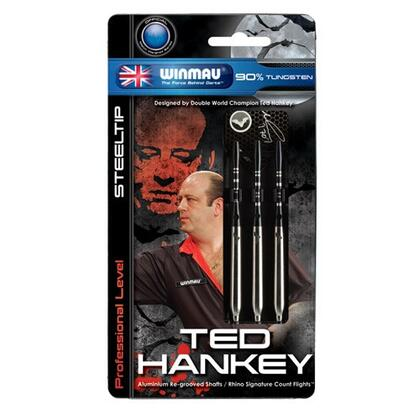 HANKG25A Winmau Ted Hankey 90% Tungsten Steel-Tip Dart Set Of 3: 25