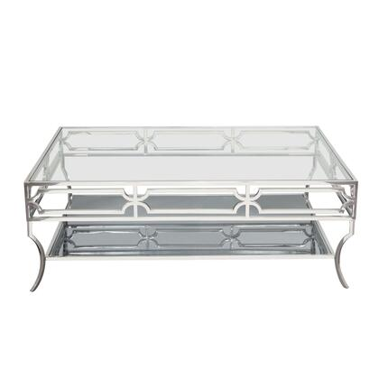 """Avalon_AVALONCT_50""""_Cocktail_Table_with_Stainless_Steel_Base__Clear_Tempered_Glass_Top_and_Mirrored"""