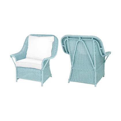 6917006P Rattan Patio Chairs In Aqua