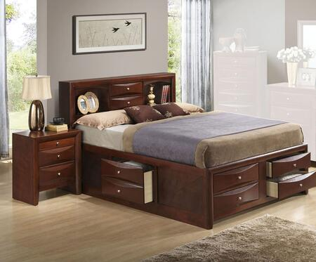 G1550G-FSB3BEDROOMSET 2-Piece Bedroom Set with Full Size Storage Bed + Nightstand  in