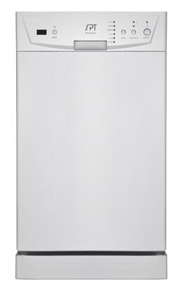 SD-9252W Energy Star 18 inch  Built In Dishwasher with 8 Place Settings  6 Wash Programs  Two Racks  2 Spray Arms and Silverware Basket in