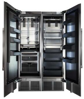 48 inch  Stainless Steel Side-by-Side Refrigerator with CR24R12L 24 inch  Left Side Refrigerator  CR24F12R 24 inch  Right Side Freezer  and 4 inch  Toe