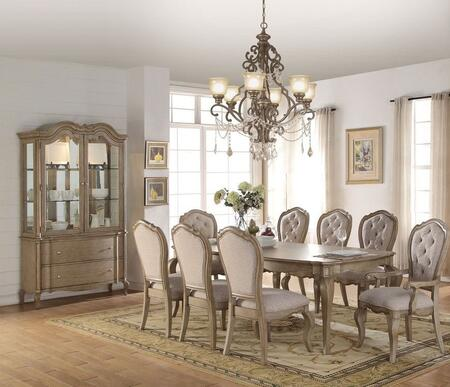 Chelmsford Collection 6605010SET 10 PC Dining Room Set with Dining Table  6 Side Chairs  2 Arm Chairs and China Cabinet in Antique Taupe