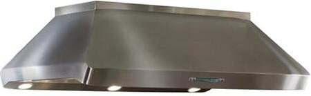 """IP29M54SB 54"""""""" Centro Island Mount Chimney Style Hood with Heat Sentry  Automatic Sensor Control  Filter Clean Reminder  Air-Refresh  and Halogen Light:"""" 153649"""