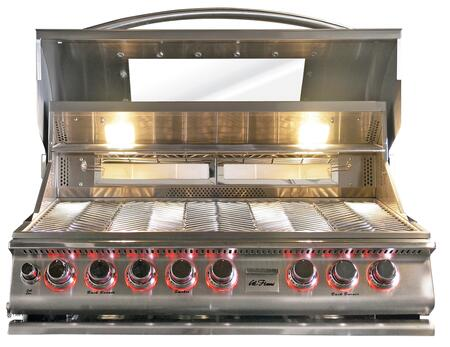 "BBQ13875CTG 39"""" Built-In Top Gun Liquid Propane Convection Grill with 5 Burners  Rotisserie  1000 sq. in. Cooking Surface  and Halogen Lights  in Stainless"" 356720"