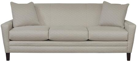 Drake Collection 3923-62fc/fc155-1 83 Sofa With Fashionable Canted Arm  Top Stitch  Box Seat Cushions  Sharp Base Border In