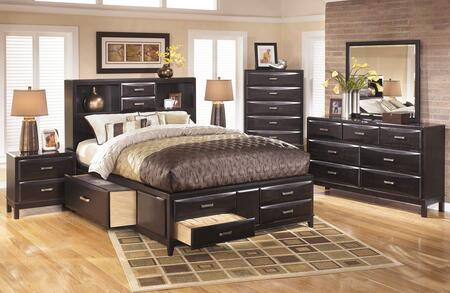 Kira 4-piece Bedroom Set With Queen Size Storage Bed  Dresser  Mirror And Nightstand In