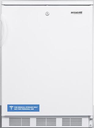 CT66L 24 inch  CT66J Series Medical Compact Refrigerator with 5.1 cu. ft. Capacity  Zero Degree Freezer  Front Door Lock  Adjustable Glass Shelves  Dual Evaporator