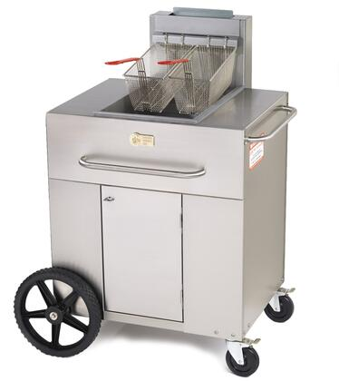 "CV-PF-1-LP 38"""" Single Tank Outdoor Portable Fryer with 90 000 BTU/H  40 lbs. Capacity  Millivolt Thermostat Control  Two Fry Baskets and Three Heat Exchanger"" 537945"