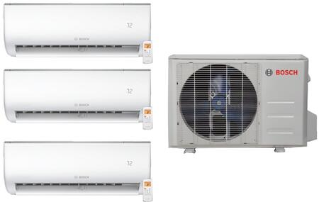 BOS4PCWKIT2 Triple Zone Mini Split Air Conditioner System with 36000 BTU Cooling Capacity  3 Indoor Units  and Outdoor 844030