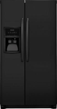 Frigidaire FFHX2325TE 33 Inch Freestanding Side by Side Refrigerator with 22.1 cu. ft Capacity, in Ebony