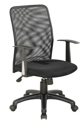 4219-CCH Black Upholstered Back Pneumatic Office