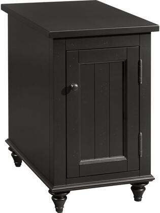 Reclinermate Collection 8712-008 14 inch  Accent Table with 1 Door  USB Port  Dual Outlets and Adjustable Shelf in Ebony