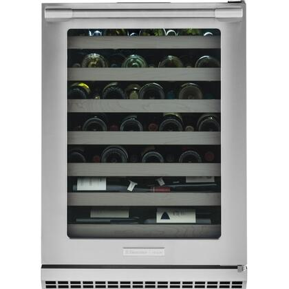 E24WC50QS Professional Under-Counter Wine Cooler with Right Hinge  PureAdvantage Air Filtration  UV Filtered Glass Door  Signature Blue LED Display and