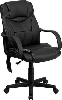 BT-2690P-GG High Back Massaging Black Leather Executive Office