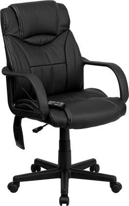 BT-2690P-GG High Back Massaging Black Leather Executive Office