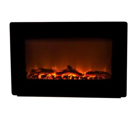 60757 Wall Mounted Electric Fireplace Soft Touch Control Panel  3D Patented Flame and 6 ft Non Retractable Cord in