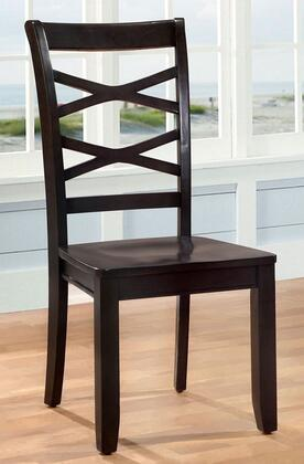 Giselle Collection CM3528EX-SC-2PK Set of 2 Transitional Style Side Chair with Cross Back and Wooden Contour Seat in