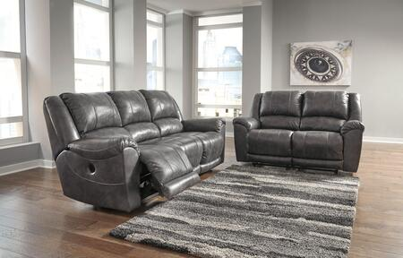 Persiphone Collection 60701PRSL 2-Piece Living Room Set with Power Reclining Sofa and Loveseat Rocker in