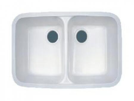 AS511WH 30 inch  Acrylic Composite Double Bowl Sink in