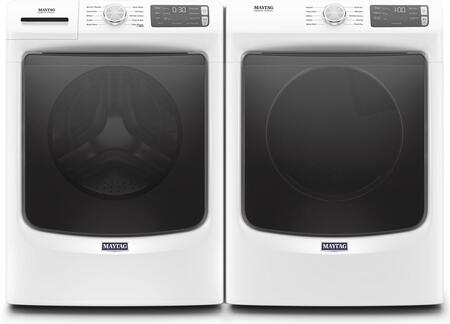 White Front Load Laundry Pair with MHW5630HW 27