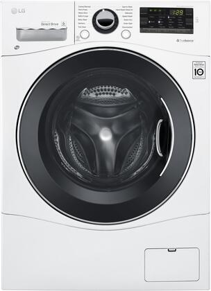 LG 2.3 cu.ft. 14-Cycle Front-Loading Compact Washer and 7-Cycle Dryer Combo with Steam White WM3488HW